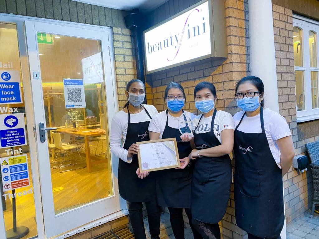 BEAUTYFINI WINS SALON OF THE YEAR CANARY WHARF