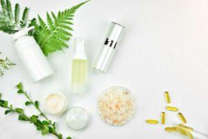 hand cream and pedicure salt