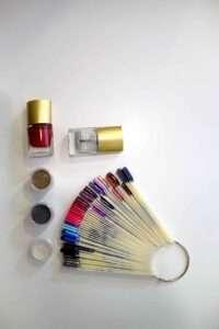 nail bottle and sample sticks